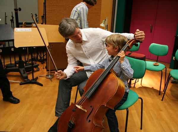 Erster Cellounterricht